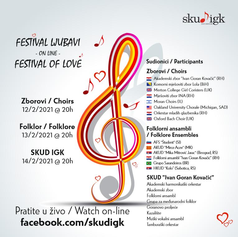 Od nas za vas –  Festival ljubavi / Festival of Love