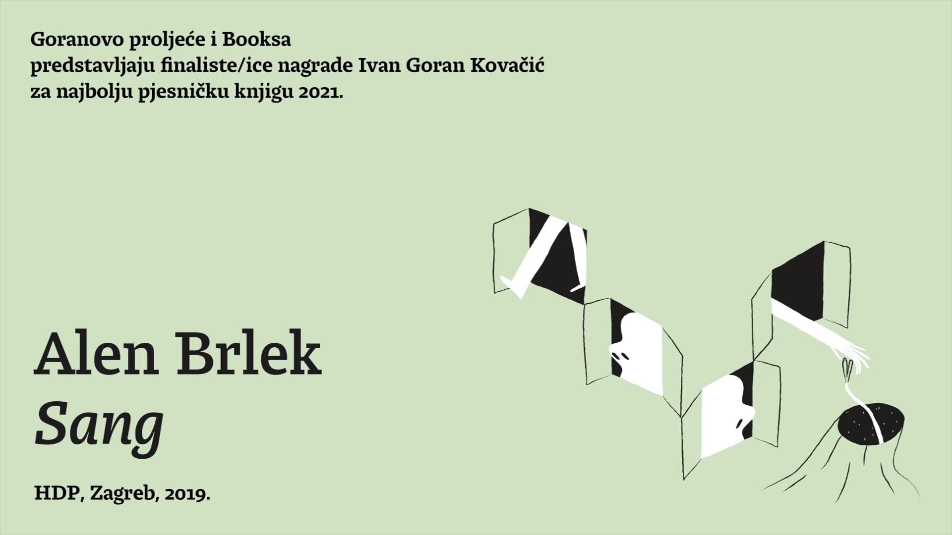 Predstavljanje finalista nagrade Ivan Goran Kovačić: Alen Brlek