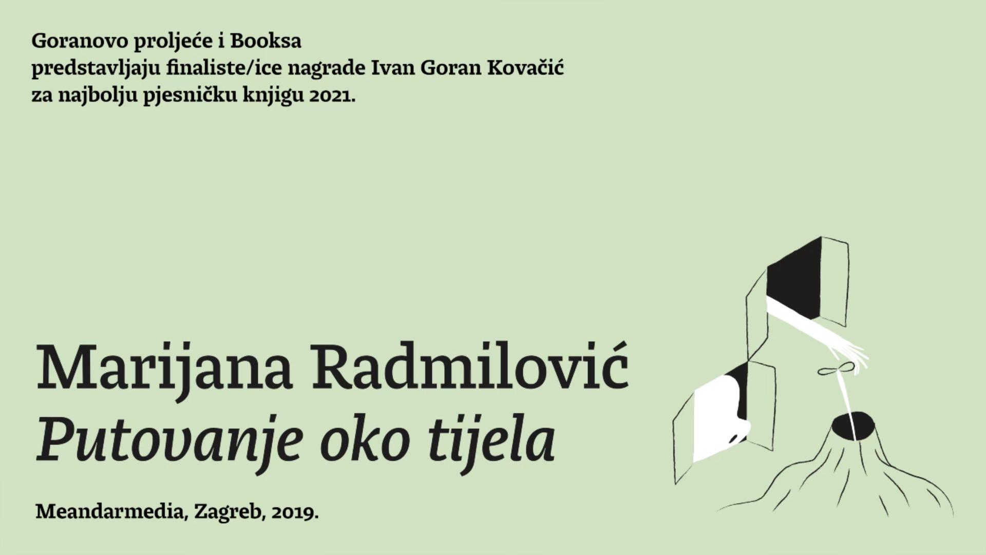 Predstavljanje finalista nagrade Ivan Goran Kovačić: Marijana Radmilović